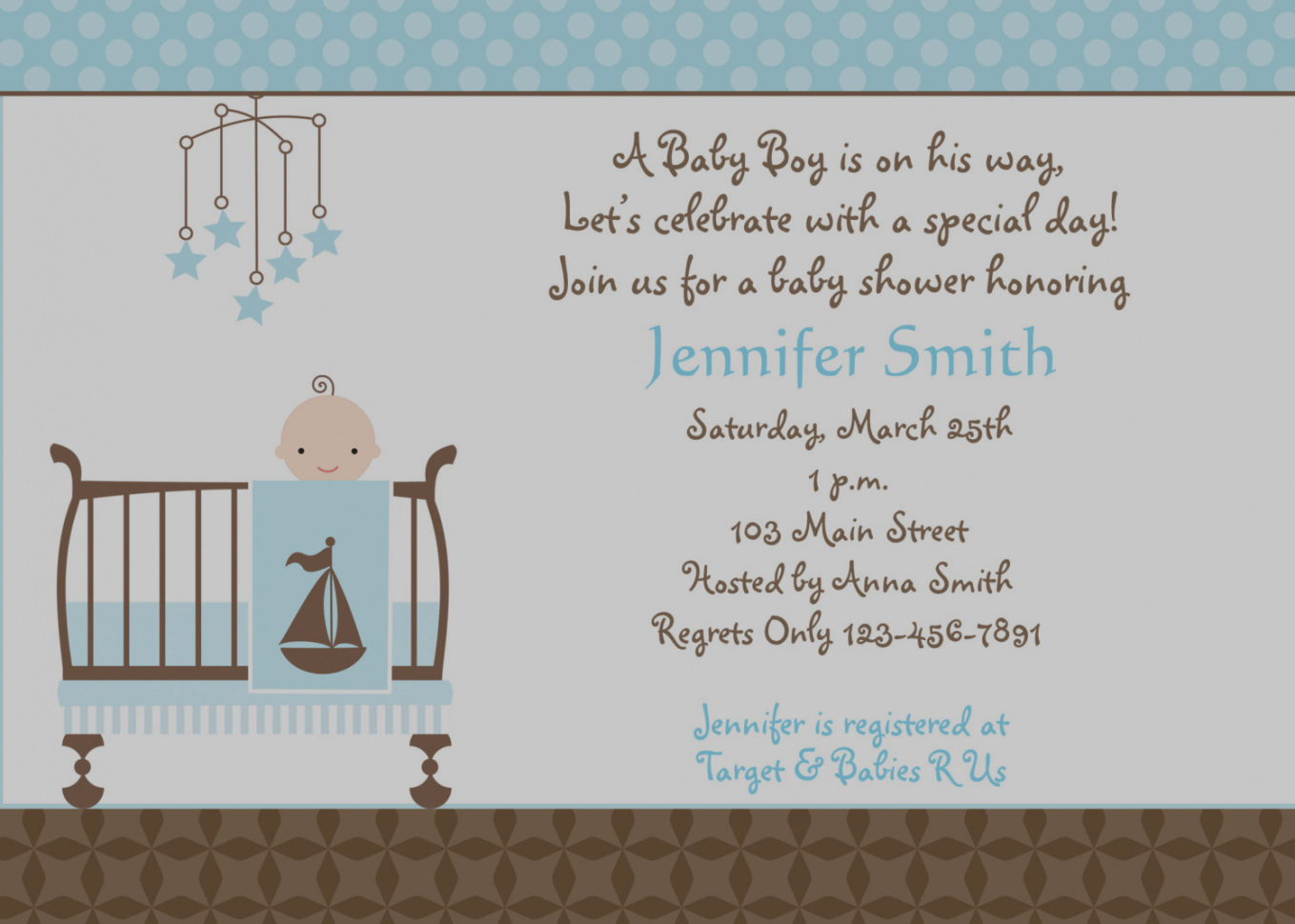 Modular Baby Boy Invitations Baby Shower - Baby Shower Gallery pertaining to Baby Boy Baby Shower Invitations