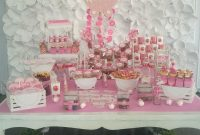 Modular Baby Girl Sweets Table Mesa De Dulces Para Baby Shower De Niña in Mesa De Dulces Para Baby Shower