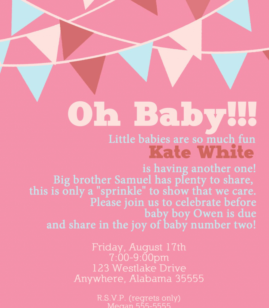 Modular Baby Shower 2Nd Present For Invitation Wording Gift Ideasoy with regard to Baby Shower For 2Nd Baby