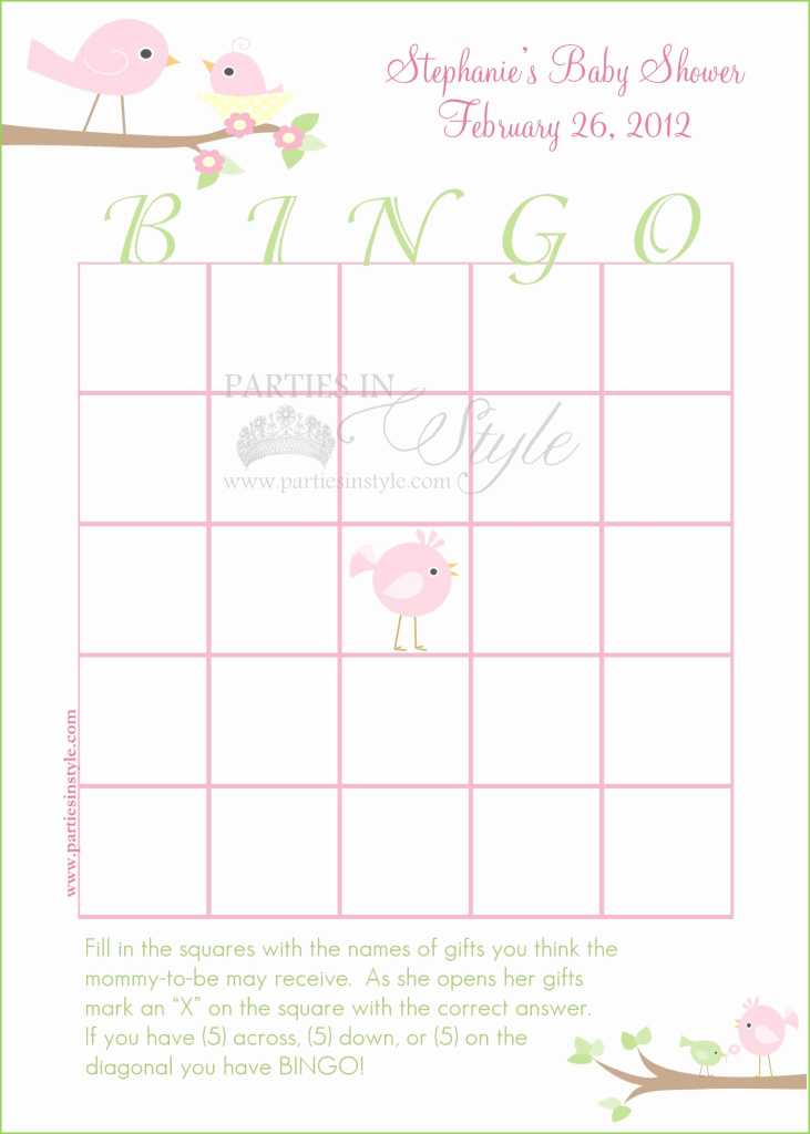 Modular Baby Shower Bingo Template Best Of 30 Baby Shower Bingo Cards pertaining to High Quality Free Baby Shower Bingo