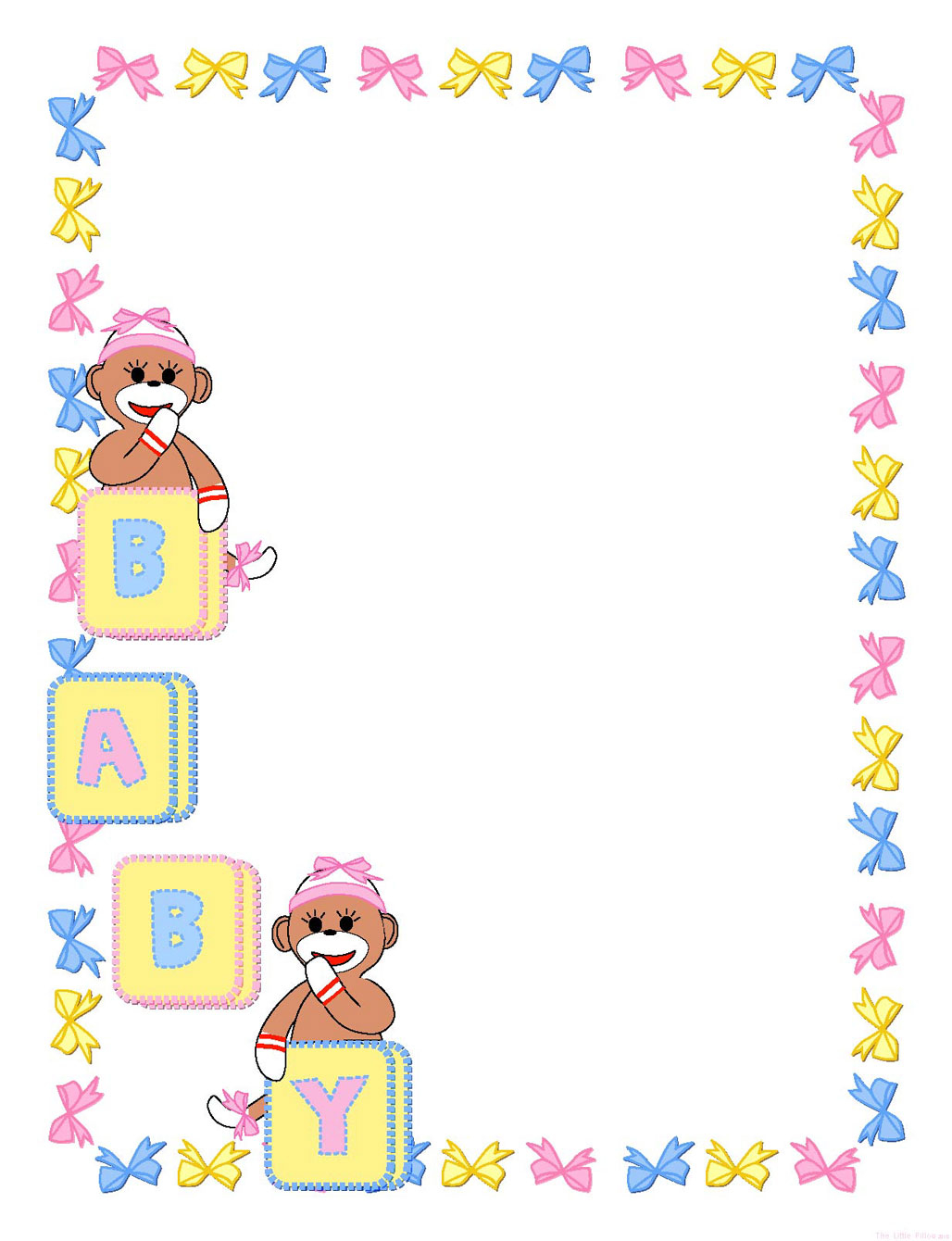 Modular Baby Shower Borders For Word - Acur.lunamedia.co for Baby Shower Borders