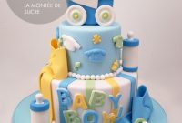 Modular Baby Shower Cake Boy | Sugar Rush Cakes Montreal with regard to Review Baby Boy Shower Cakes