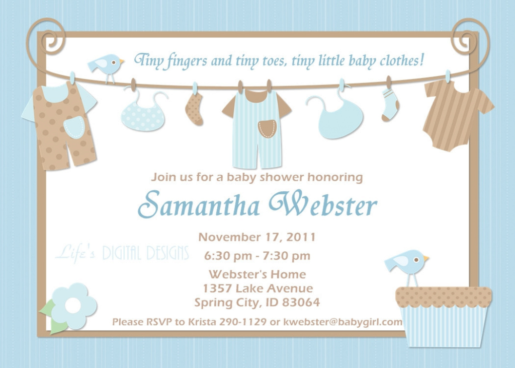 Modular Baby Shower Invitations Ideas For Boys | Omega-Center - Ideas throughout Baby Shower Invitations