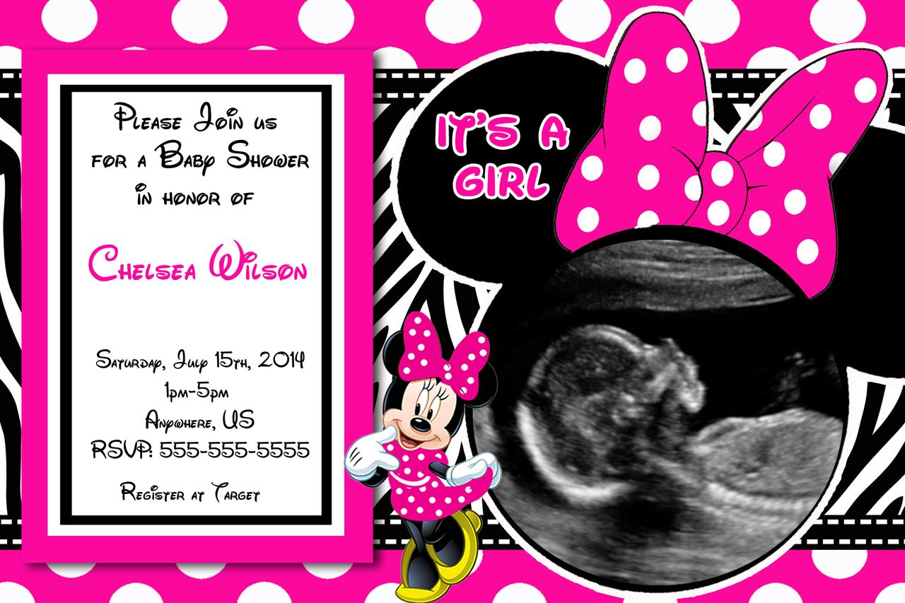 Modular Baby Shower Invitations: Minnie Mouse Baby Shower Invitations within Minnie Mouse Baby Shower Invitations