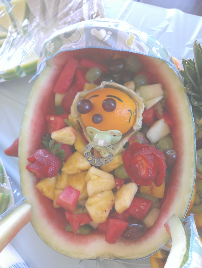 Modular Baby Shower Watermelon Fruit Carriage | Lady Kabobs with regard to Watermelon Baby Shower
