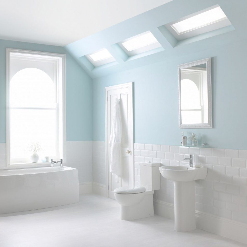 Modular Bathroom : Bathroom Blue Tile Paint Colors With Tiles And Ideas Then in Blue Bathroom Paint