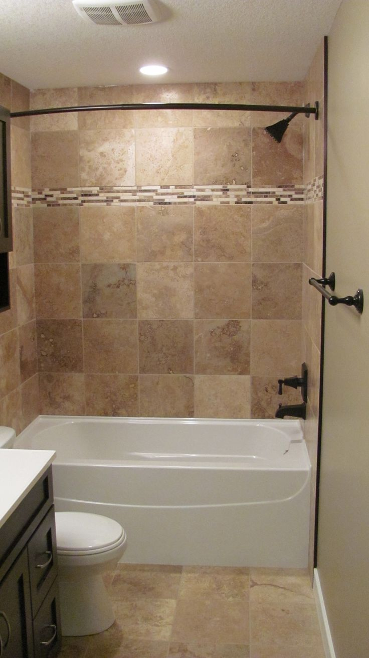Modular Bathroom, : Good Looking Brown Tiled Bath Surround For Small within Review Bathroom Tub Tile Ideas