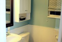 Modular Bathroom: Marvelous Bathroom With Beadboard Decoration Using Light for Set Bathrooms With Beadboard