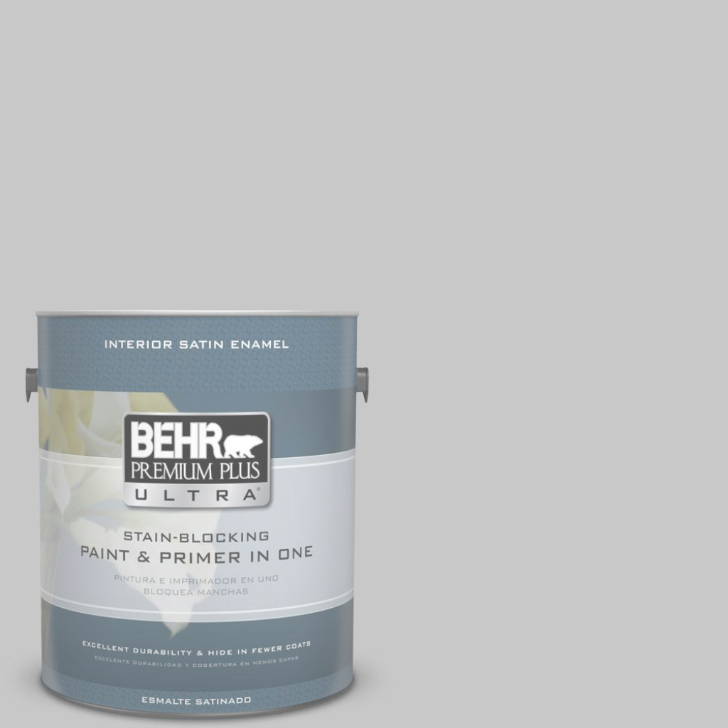 Modular Behr Premium Plus Ultra 1 Gal. #n520-3 Flannel Gray Satin Enamel within Behr Paint Colors Gray