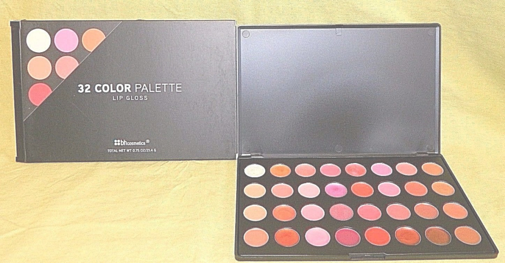Modular Bh Cosmetics 32 Color Lip Gloss Palette | Ebay throughout Set 32 Color Palette