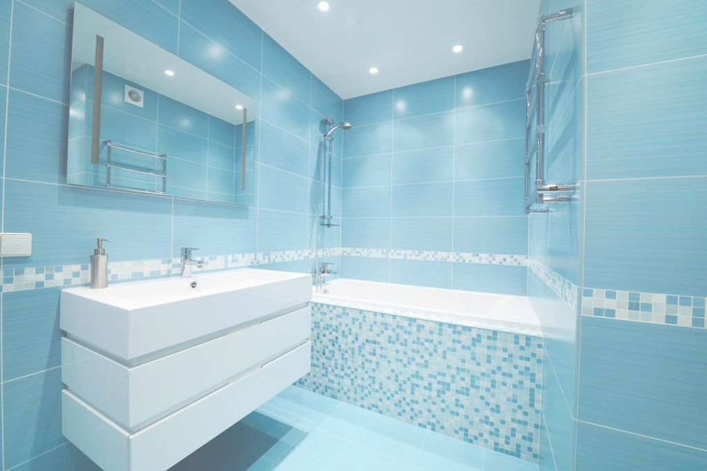 Modular Blue Bathroom Ideas Home Interior Design Beautiful Interior Design intended for Blue Bathroom Interior Design