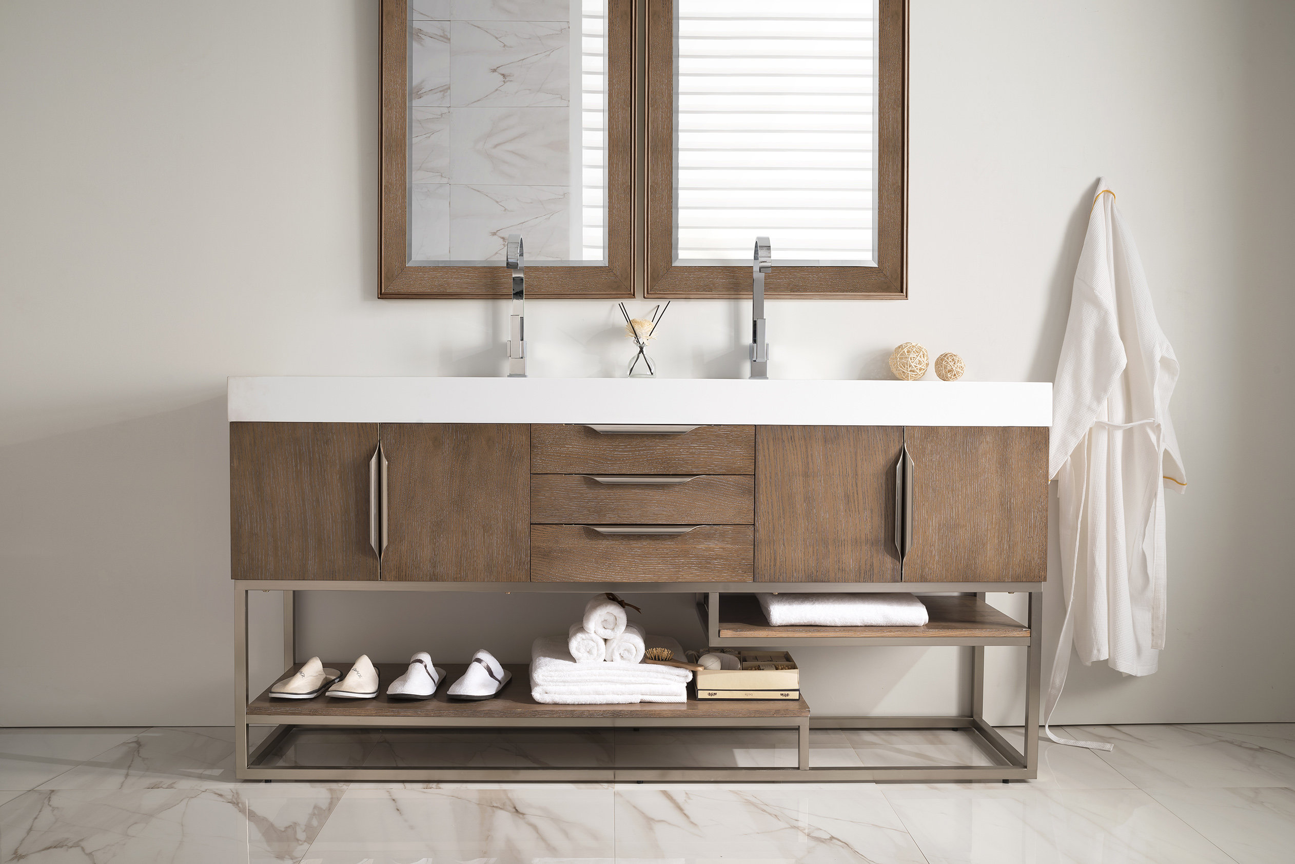 "Modular Brayden Studio Hulett 73"" Double Bathroom Vanity Set 