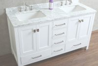 "Modular Buy Vincent 60"" Solid Wood Double Bathroom Vanity In White Hm-13001 pertaining to Luxury 59 Inch Bathroom Vanity"