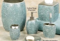 Modular Calm Waters Light Aqua Mosaic Bath Accessories intended for Fresh Light Blue Bathroom Accessories