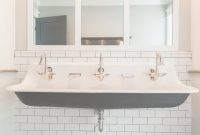 Modular Cast Iron Triple Faucet Trough Sink -Rafterhouse. | Home for Cast Iron Bathroom Sink