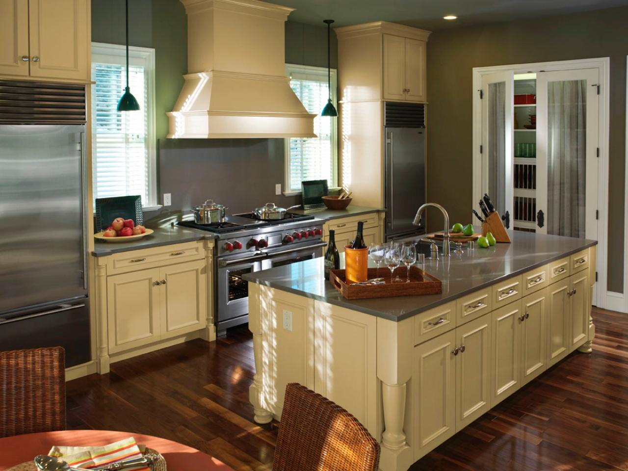 Modular Choosing Kitchen Materials | Hgtv pertaining to Kitchen Layouts With Island