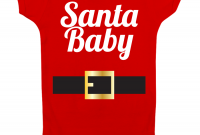 Modular Christmas Onesie Santa Baby Funny Baby Onesie Holiday Onesie for Christmas Baby Shower