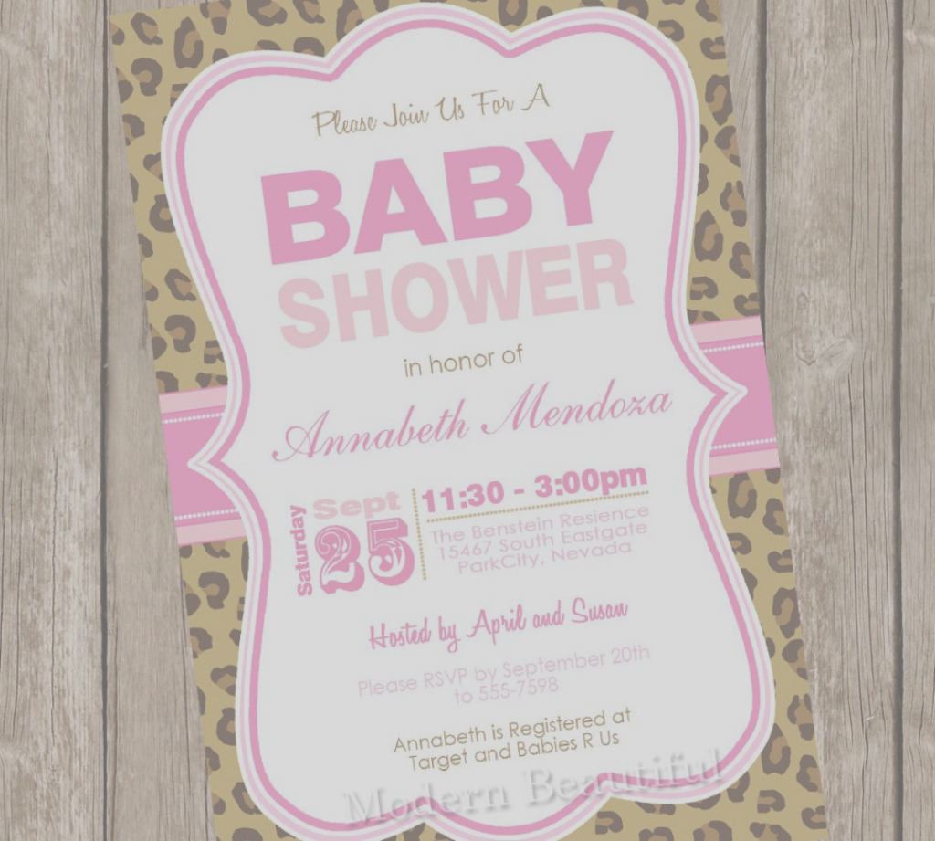 Modular Collection Of Tiny Prints Baby Shower Invites Animal Print Baby Boy intended for Best of Tiny Prints Baby Shower