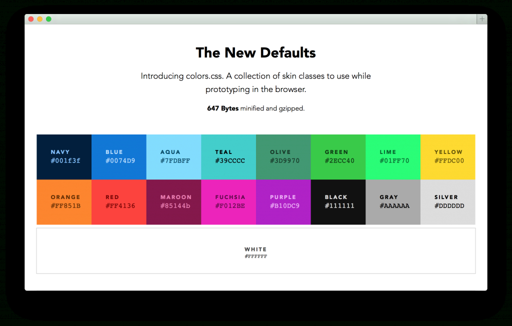 Modular Colors — Default Web Palette Replacement - Progville for Color Palette Names