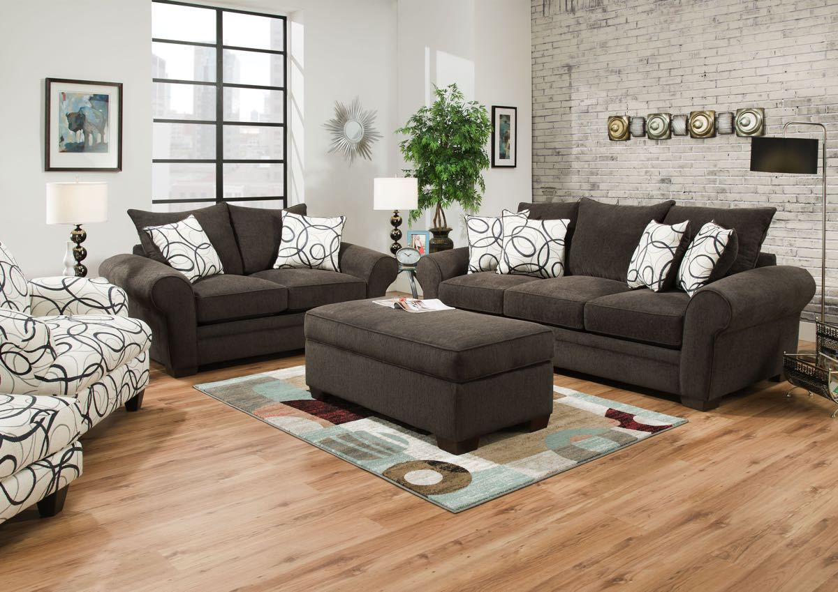 Modular Corinthian Othello Black Sofa Collection | Sofa And Loveseats for Living Room Dayton