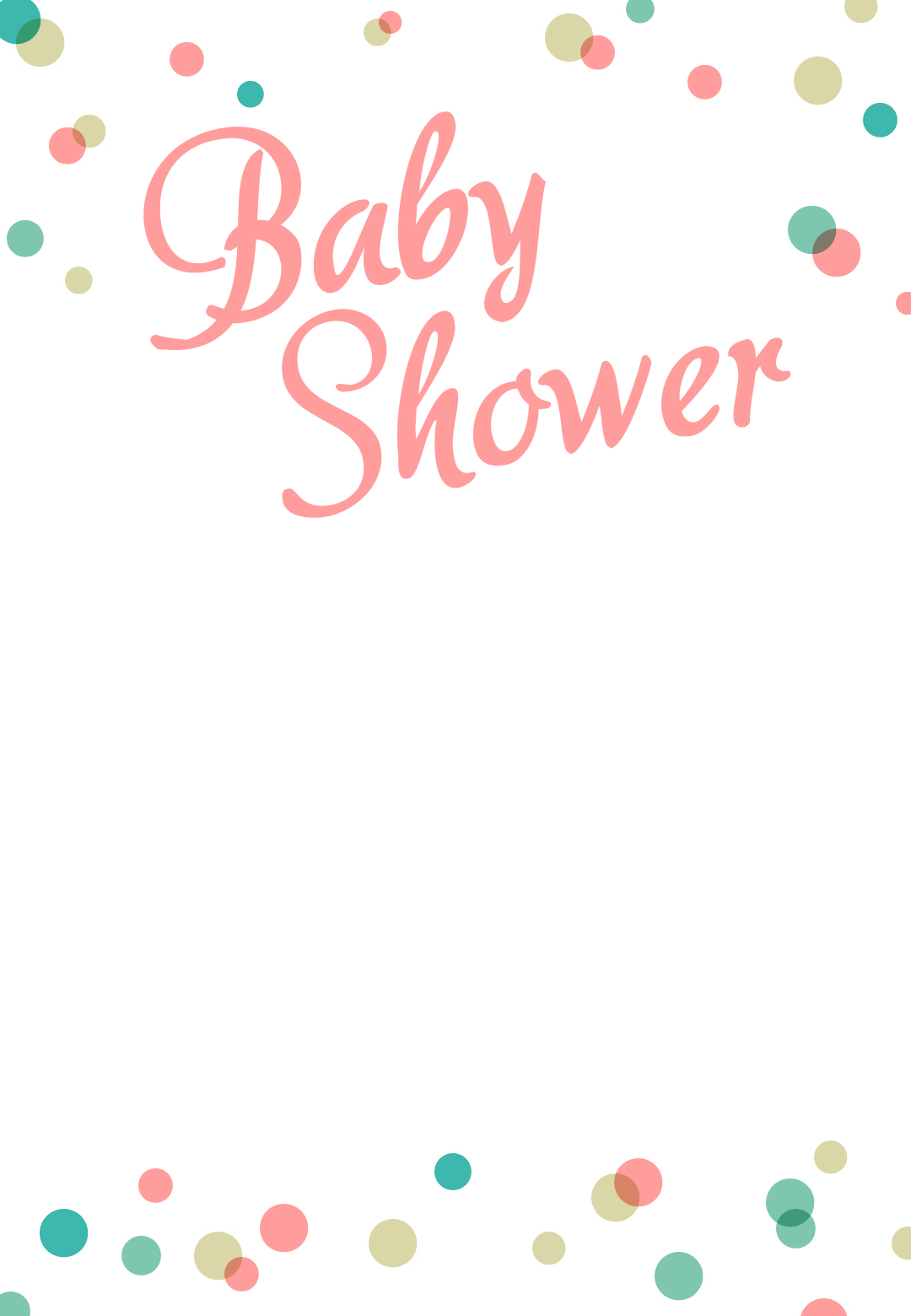 Modular Dancing Dots Borders - Free Printable Baby Shower Invitation regarding Unique Baby Shower Borders