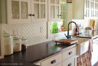 Modular Diy Herringbone Beadboard Backsplash | Farmhouse38 with Diy Beadboard