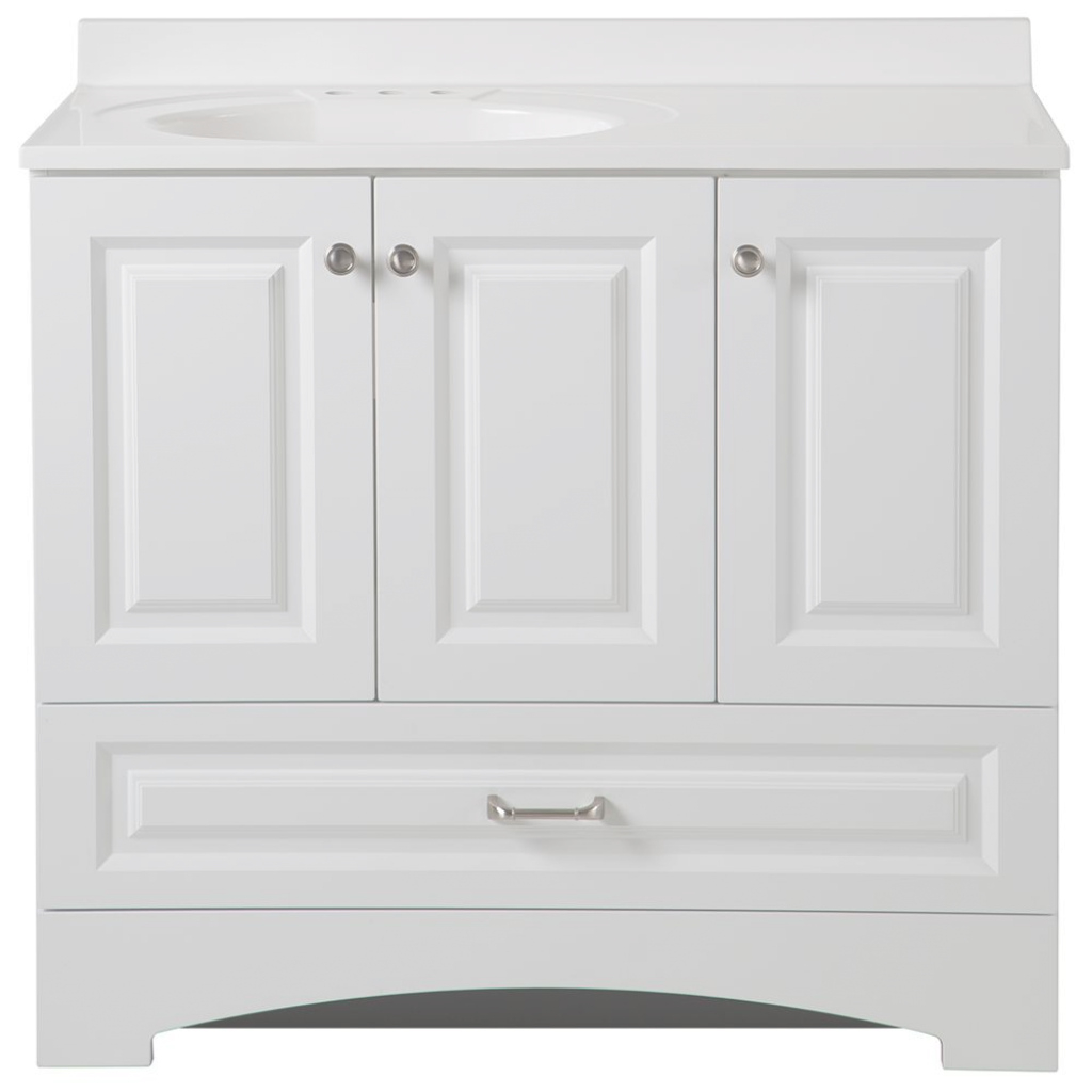 Modular Elegant 35 37 In Bathroom Vanities Bath The Home Depot Regarding within White Bathroom Vanity Home Depot