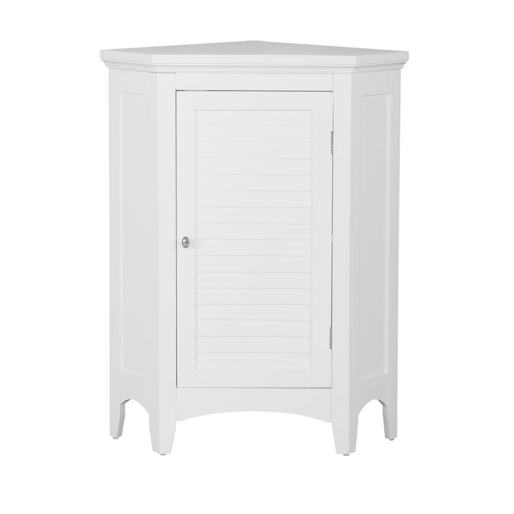Modular Elegant Home Fashions Simon 24-3/4 In. W X 17 In. D X 32 In. H within Bathroom Floor Cabinet White
