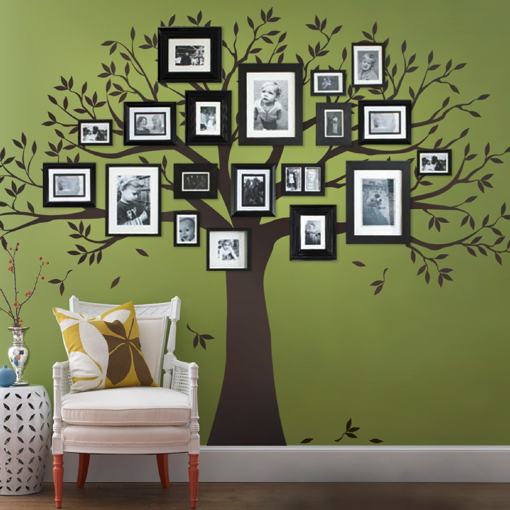 Modular Family Tree Wall Decal - Tree Wall Decal For Picture Frames within Unique Tree Wall Decals For Living Room