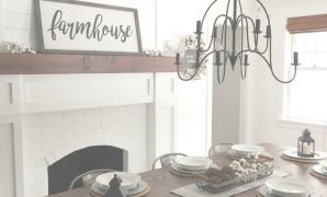Modular Farmhouse Dining Room @angelarose_Diyhome | Home Decoration in Fresh Dining Room With Fireplace