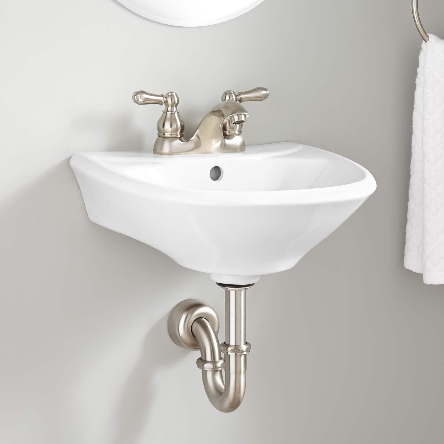 Modular Farnham Mini Porcelain Wall-Mount Bathroom Sink - Bathroom throughout Elegant Small Bathroom Sinks Wall Mount