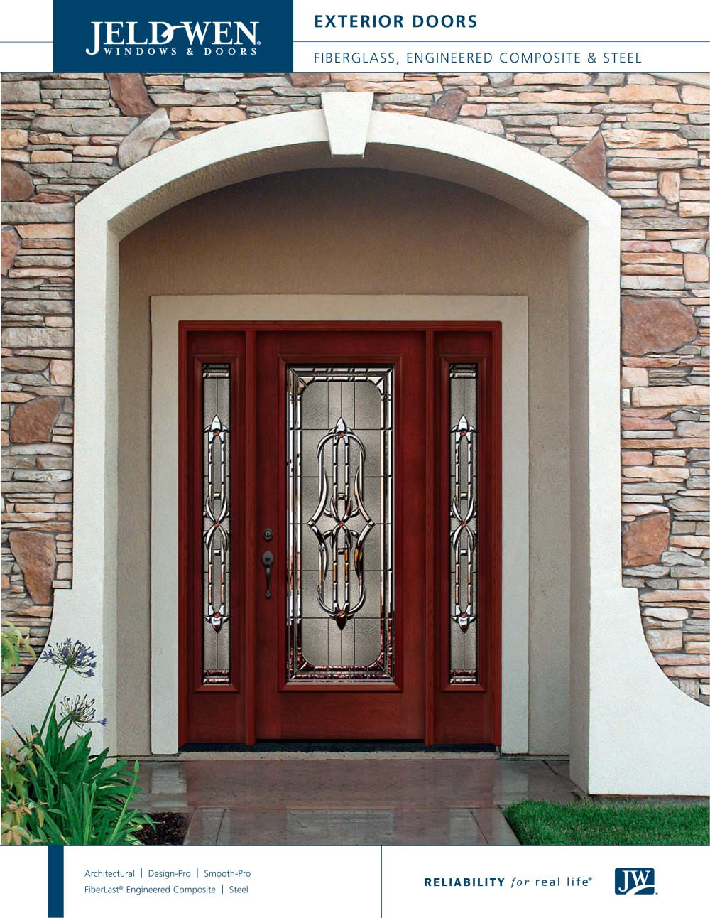 Modular Fiberglass And Steel Exterior Doors - Jeld-Wen - Pdf Catalogues throughout Window Design Catalogue