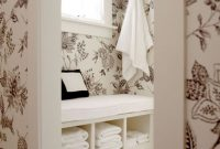 Modular Floral Wallpaper For Classic Victorian Bathroom Ideas For Small regarding Bathroom Bench Ideas