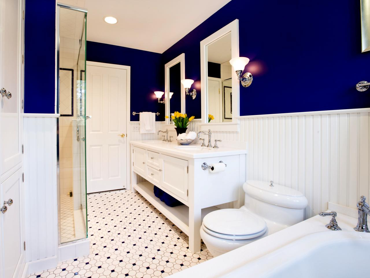 Modular Foolproof Bathroom Color Combos | Hgtv with New Small Bathroom Paint Ideas