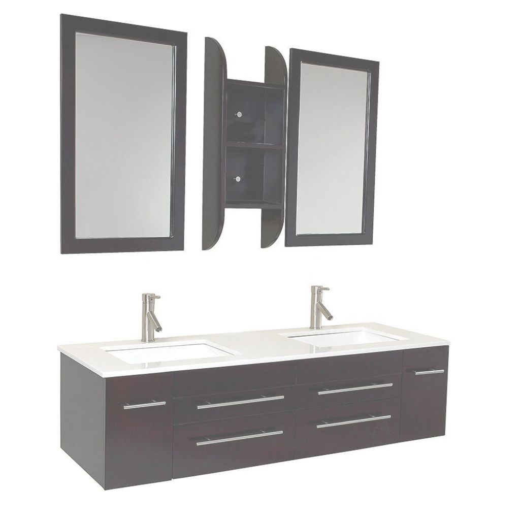 Modular Fresca Bellezza 59 In. Double Vanity In Espresso With Marble Vanity within Fresca Bathroom Vanity