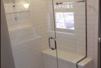 Modular Furniture: Gorgeous White Bathroom Shower Decoration Using Unframed regarding Fresh Bathroom Bench Ideas
