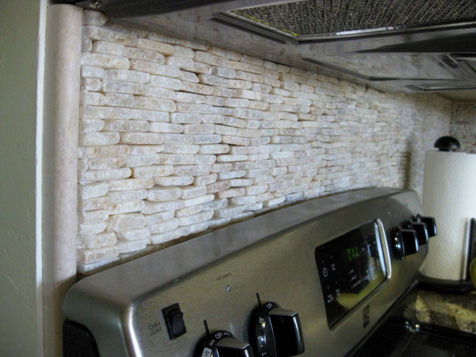 Modular Gorgeous Smart Surprising Light Stone Backsplash Tile Talling Glass throughout How To Install Stone Backsplash