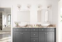 Modular Graphite Grey Shaker – Ready To Assemble Bathroom Vanities with Best of Shaker Bathroom Cabinets