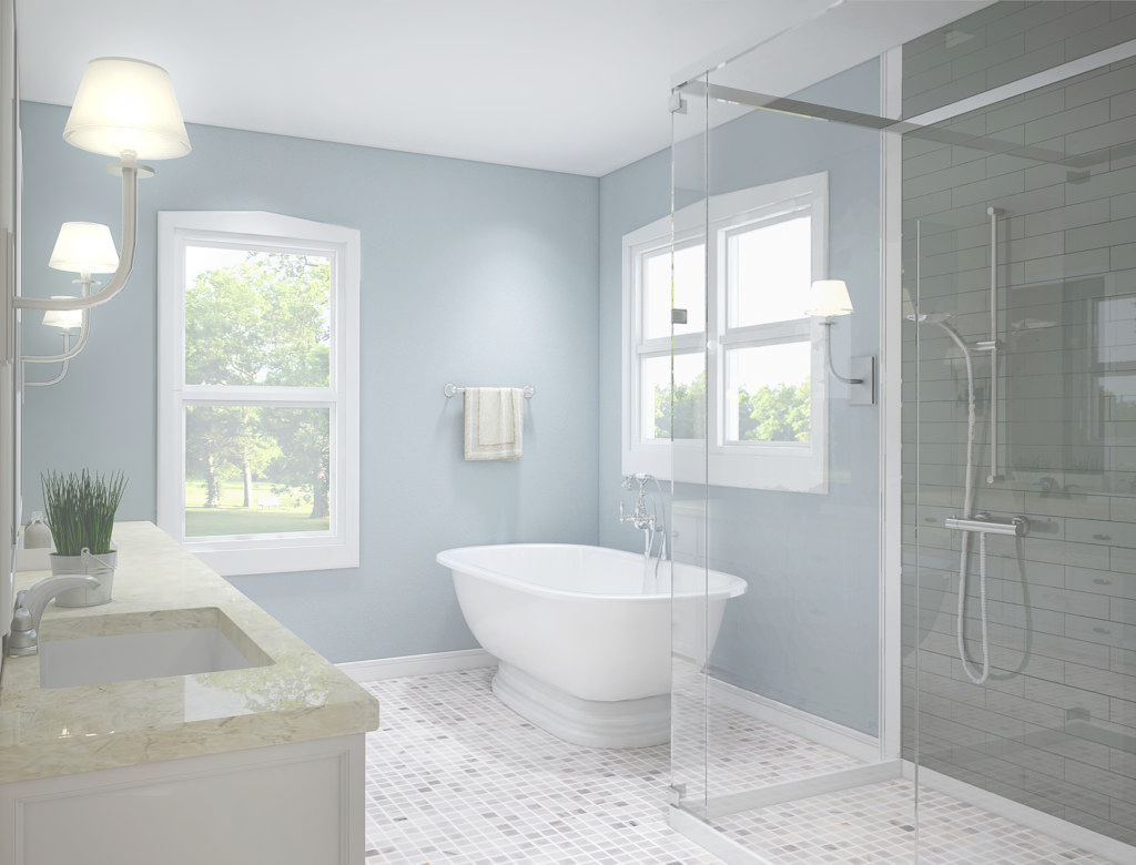 Modular Grey Contemporary Bathroom Light Grey – Crossair intended for Lovely Blue And Gray Bathroom