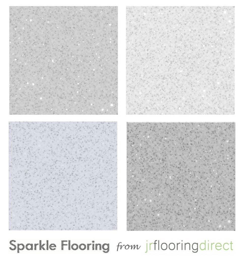 Modular Grey Sparkly Flooring / Glitter Effect Vinyl Floor. Sparkle Lino with regard to High Quality Blue Bathroom Lino