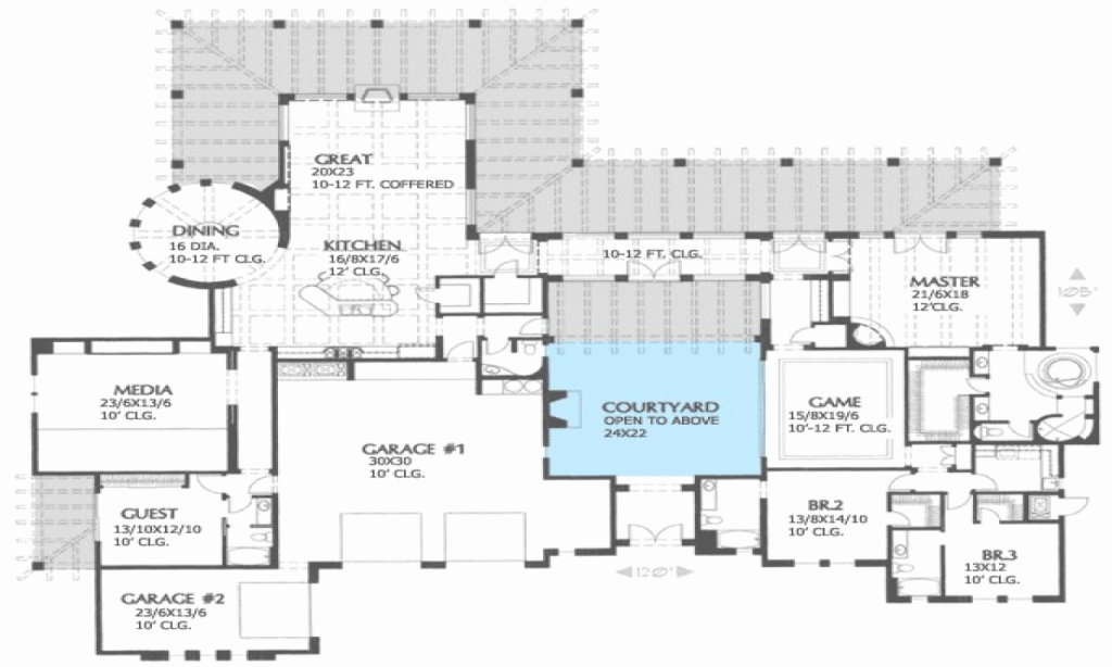 Modular Hacienda House Plans With Courtyard Best Of Hacienda House Plans regarding Hacienda House Plans Center Courtyard Image