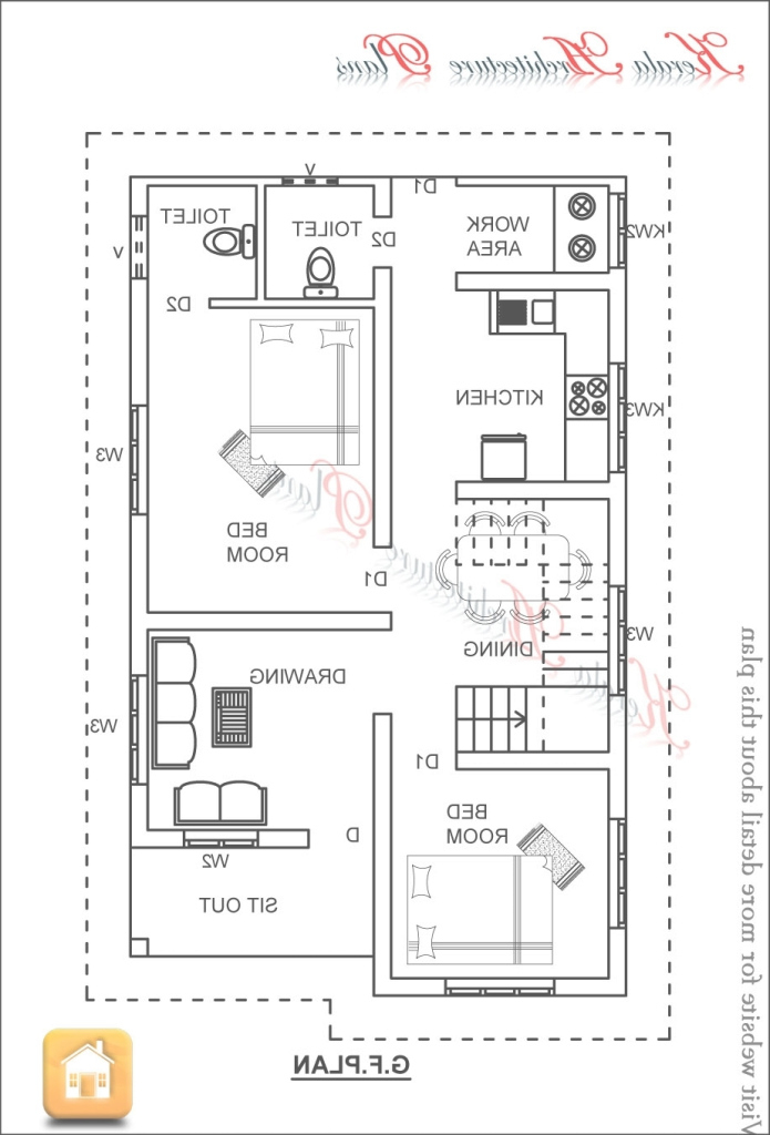 Modular Home Architecture: Floor Plan For A Small House Sf With Bedrooms And throughout Small Three Bedroom House Plans