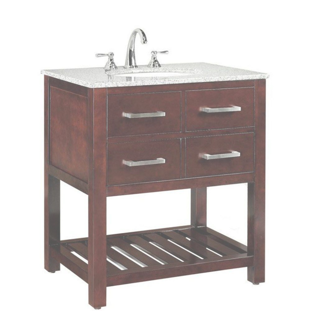Modular Home Decorators Collection Fraser 31 In. W X 21-1/2 In. D Bath throughout Beautiful Home Depot Bathroom Vanity Sale