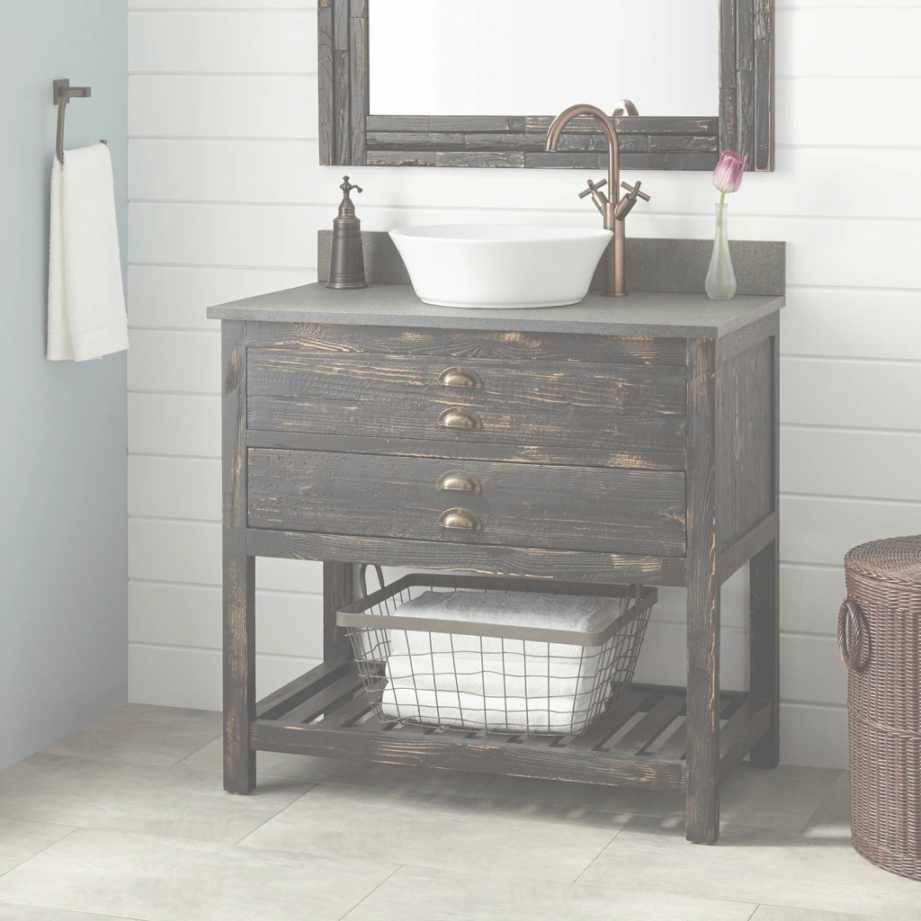 Modular Home Designs : Weathered Wood Bathroom Vanity 51 Weathered Wood throughout Weathered Wood Bathroom Vanity