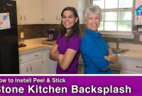 Modular How To Install A Peel And Stick Tile Backsplash – Youtube pertaining to How To Install Stone Backsplash