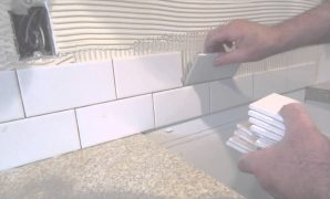 Modular How To Install A Simple Subway Tile Kitchen Backsplash - Youtube within How To Tile Backsplash