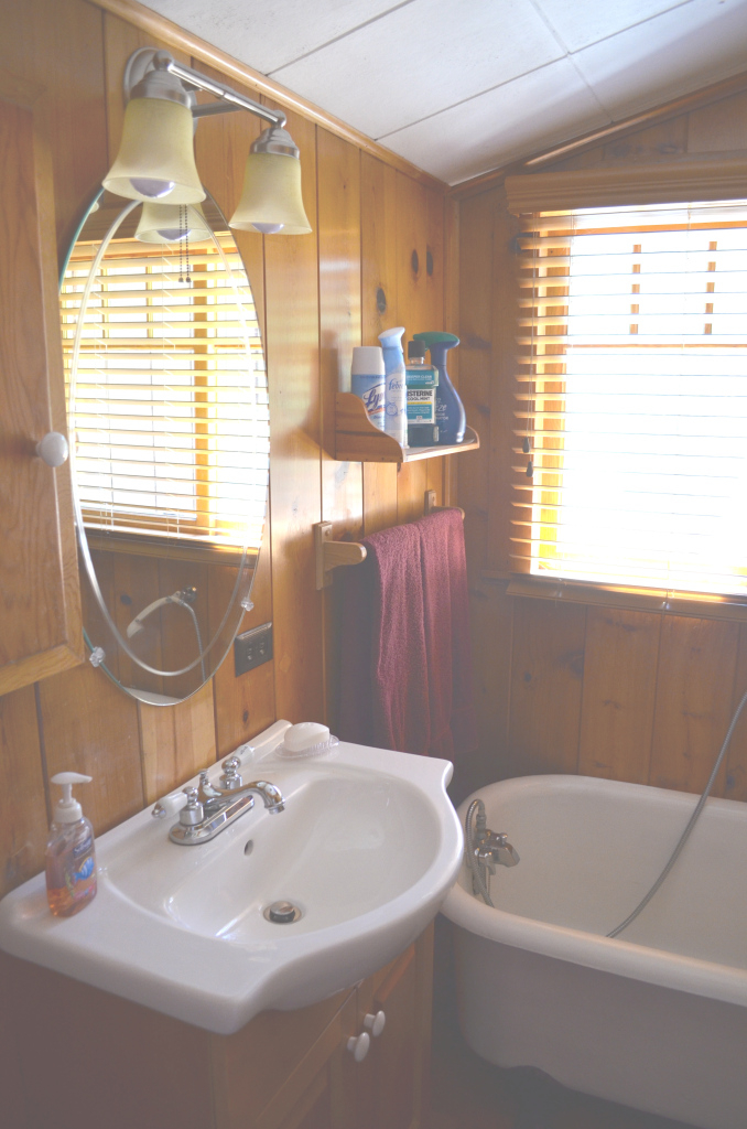 Modular Introducing My Log Cabin Bathroom Renovation - After Orange County intended for Best of Cabin Bathroom Ideas