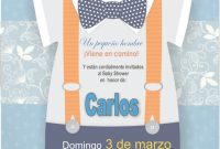 Modular Invitación Imprimible Personalizada Baby Shower Niño – $ 48.00 En with Invitaciones De Baby Shower Para Niño