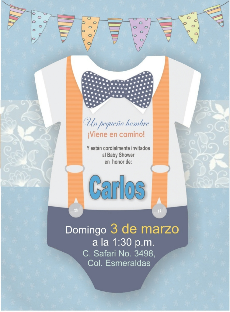 Modular Invitación Imprimible Personalizada Baby Shower Niño - $ 48.00 En with Invitaciones De Baby Shower Para Niño