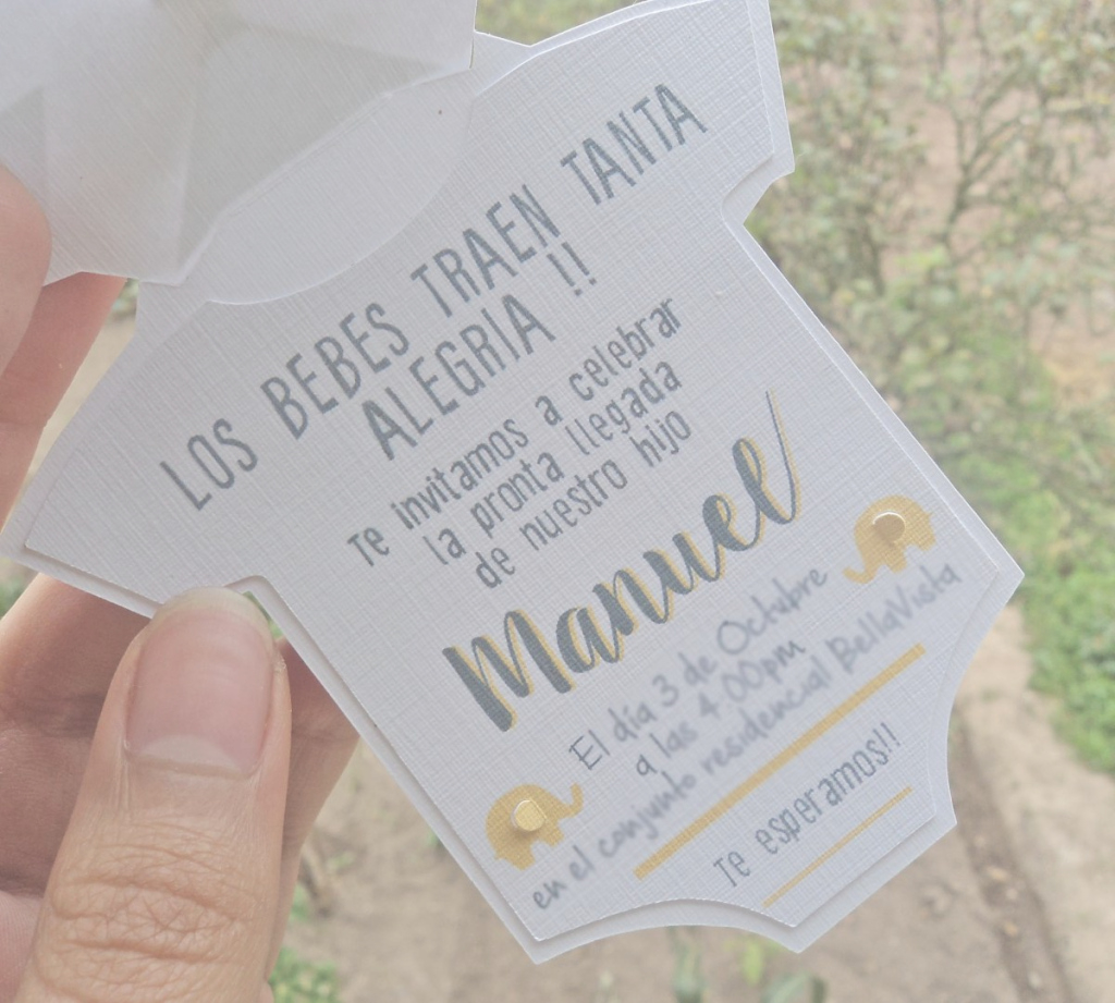 Modular Invitaciones Baby Shower - $ 3.000 En Mercado Libre within Invitaciones Baby Shower